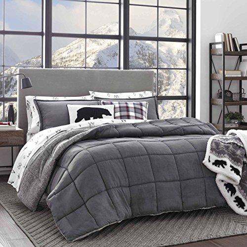 Eddie Bauer Sherwood Comforter Set, Full/Queen, Grey