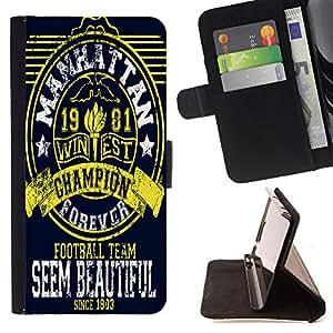 King Case - FOR LG OPTIMUS L90 - give all yourself to me - Prima caja de la PU billetera de cuero con ranuras para tarjetas, efectivo Compartimiento desmontable y correa para la mu?eca