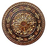 Fine Art Deco CCMF-116-2 ''Arabic Caprice II'' Hand Painted Ceiling Medallion Finished in Bronze, 37.5'' L x 37.5'' W, Gold/Copper