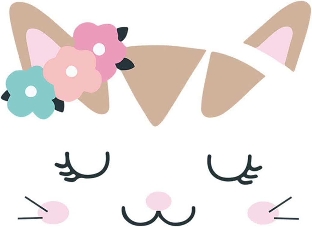 Amazon Com Cartoon Shy Cat Diy Wall Stickers Wallpaper For Family