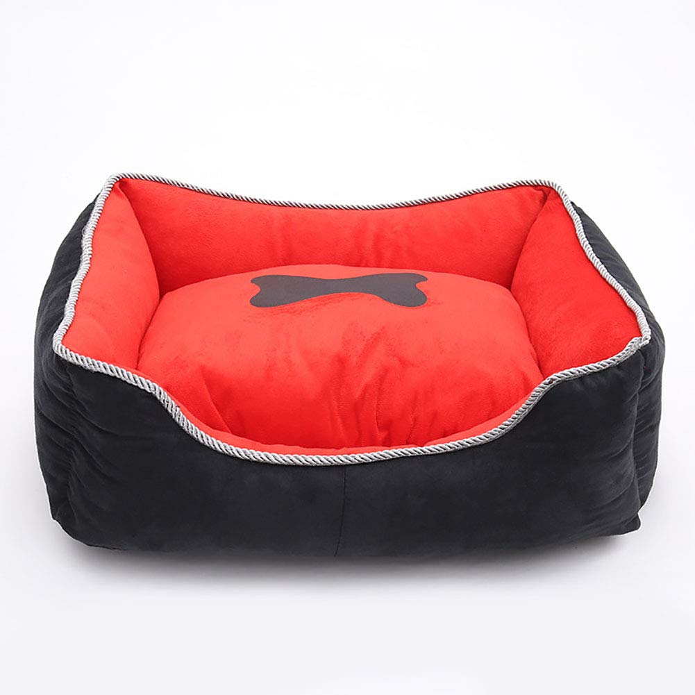 Medium Dog Bed Self-Warming Pet Bed for Small Medium Dog Cat Plush Rectangle Nest Puppy Sleeping Bag Cushion