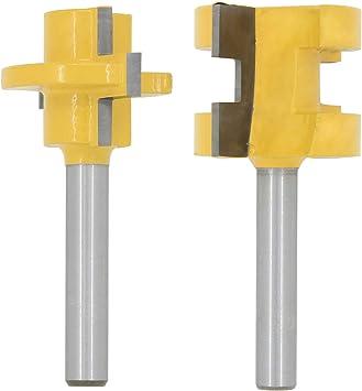 2 unidades las medidas distintas S1 fresa de disco ranurar y lengua brocas para ranuradora de madera Carpinter/ía Espiga 8 opciones