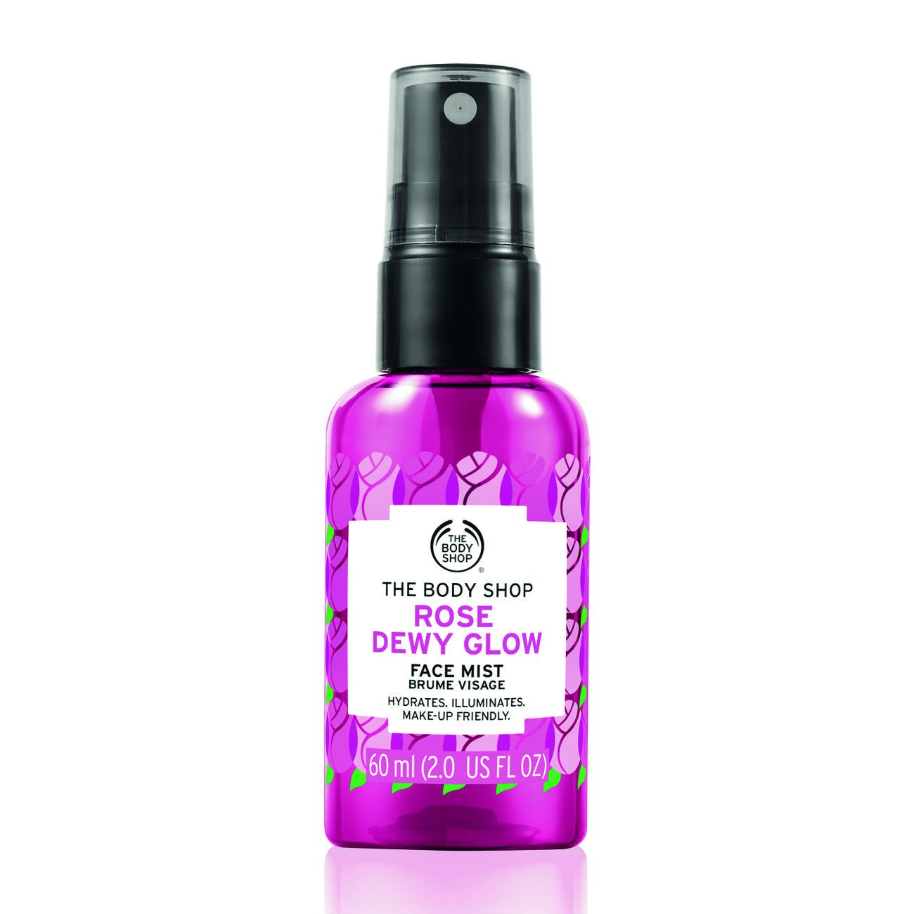 The Body Shop Rose Dewy Glow Face Mist, Hydrating, Illuminating & Make-Up Friendly, 100% Vegan, 2 Fluid Ounce Buth-na-Bodhaige Inc d/b/a The Body Shop