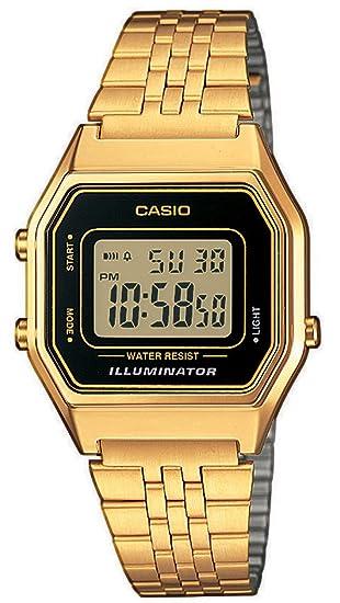 308c0ba665f2 Casio Reloj Mujer de Digital con Correa en Acero Inoxidable LA680WEGA-1ER   Amazon.es  Relojes