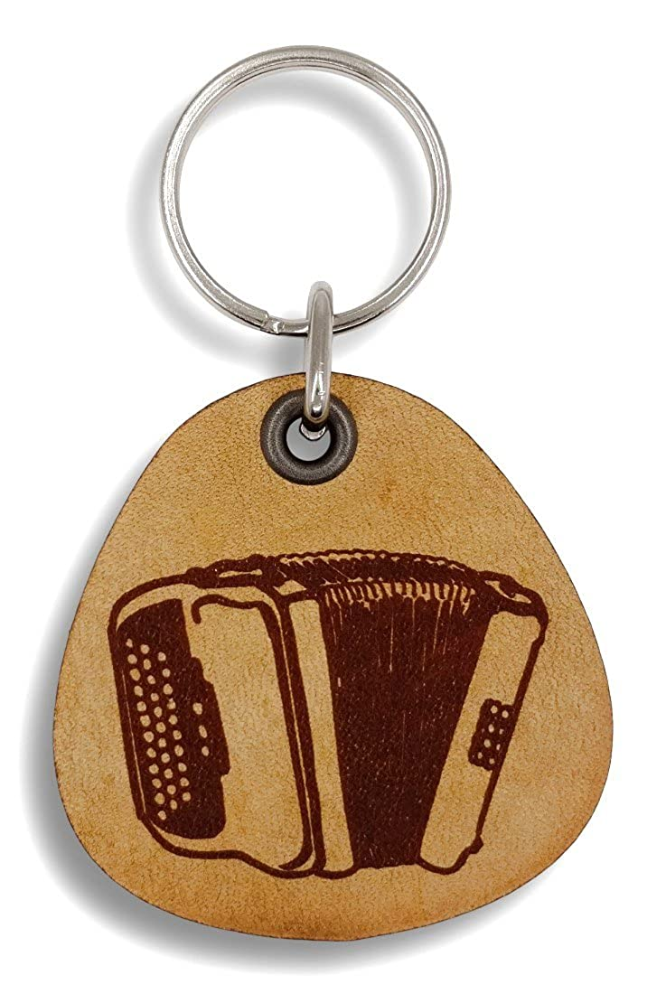 ForLeatherMore - Accordian - Genuine Leather Keychain - Music Keychains