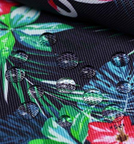 SIMPLAY Mochila Escolar Clásico   44x30x12,5cm   Estampada de moda   Flor D204H, Flamencos tropicales