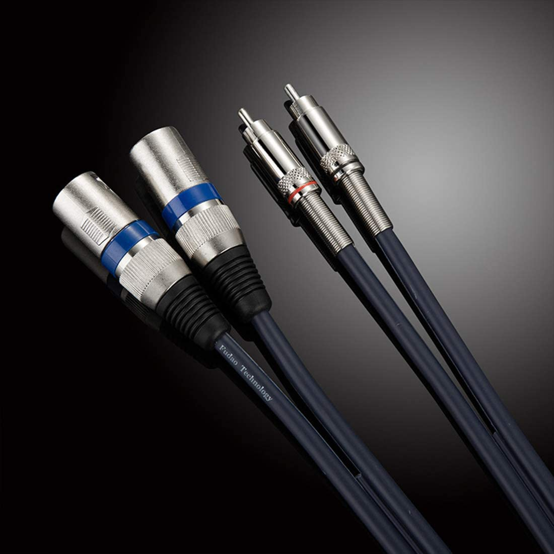 Dual Male XLR to RCA Male Cable 1M//3FT 2 XLR to 2 RCA//Phono Plug HIFI Audio Cable Stereo Audio Cable Connector Mixer Microphone Cable Wire Cord