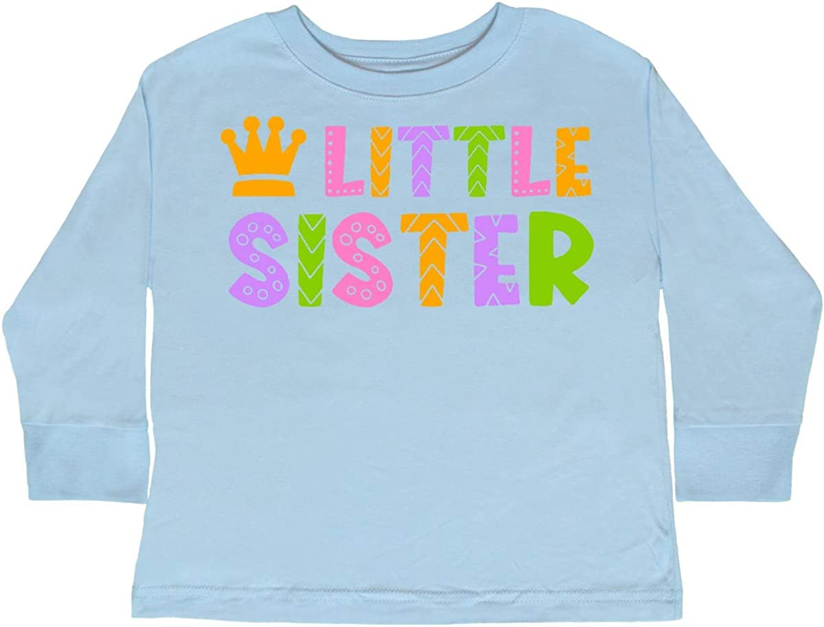 inktastic Baby Little Sister with Crown Toddler Long Sleeve T-Shirt