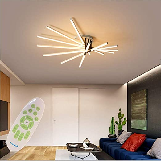 Forma De Ventilador LED Lámpara De Techo, Moderno Lámpara De Techo ...