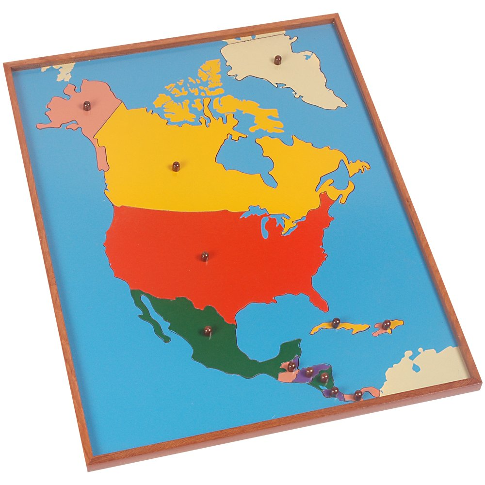 Buy Kidken Montessori North American Map Puzzle Educational Teaching