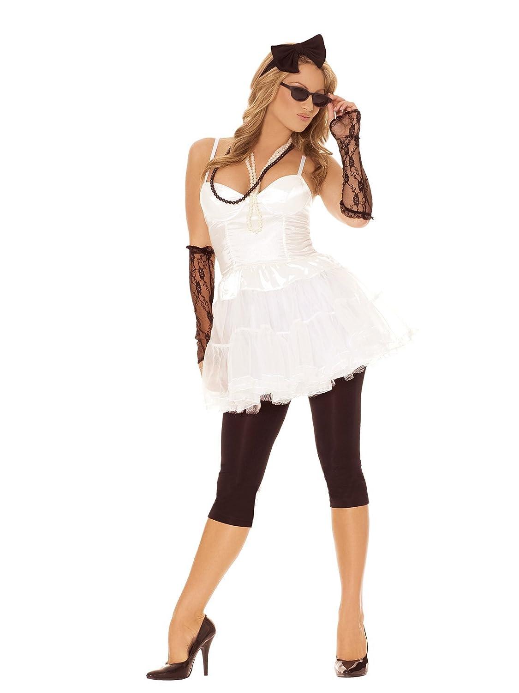 amazoncom sexy womenu0027s 80u0027s rock star adult roleplay costume set small white clothing sc 1 st amazoncom