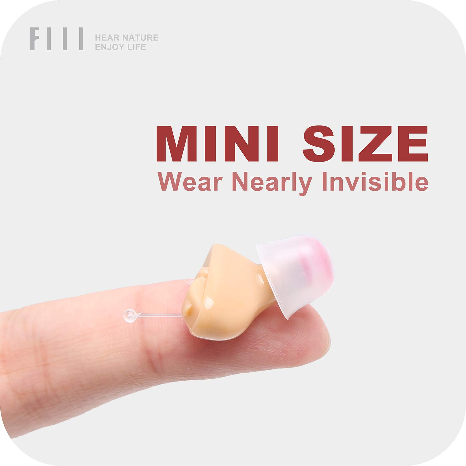 Hearing Amplifier Mini Sound Amplifier with 2 Batteries A10 - Premium Hearing Assist by FIIL by FIIL