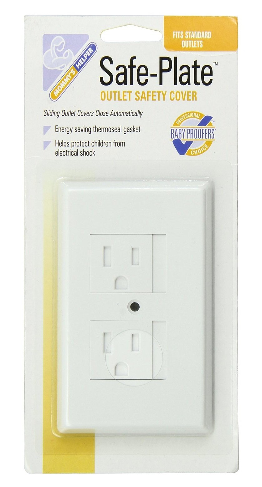 Mommy's Helper Safe Plate Electrical Standard Outlet Cover, White, 20 Count