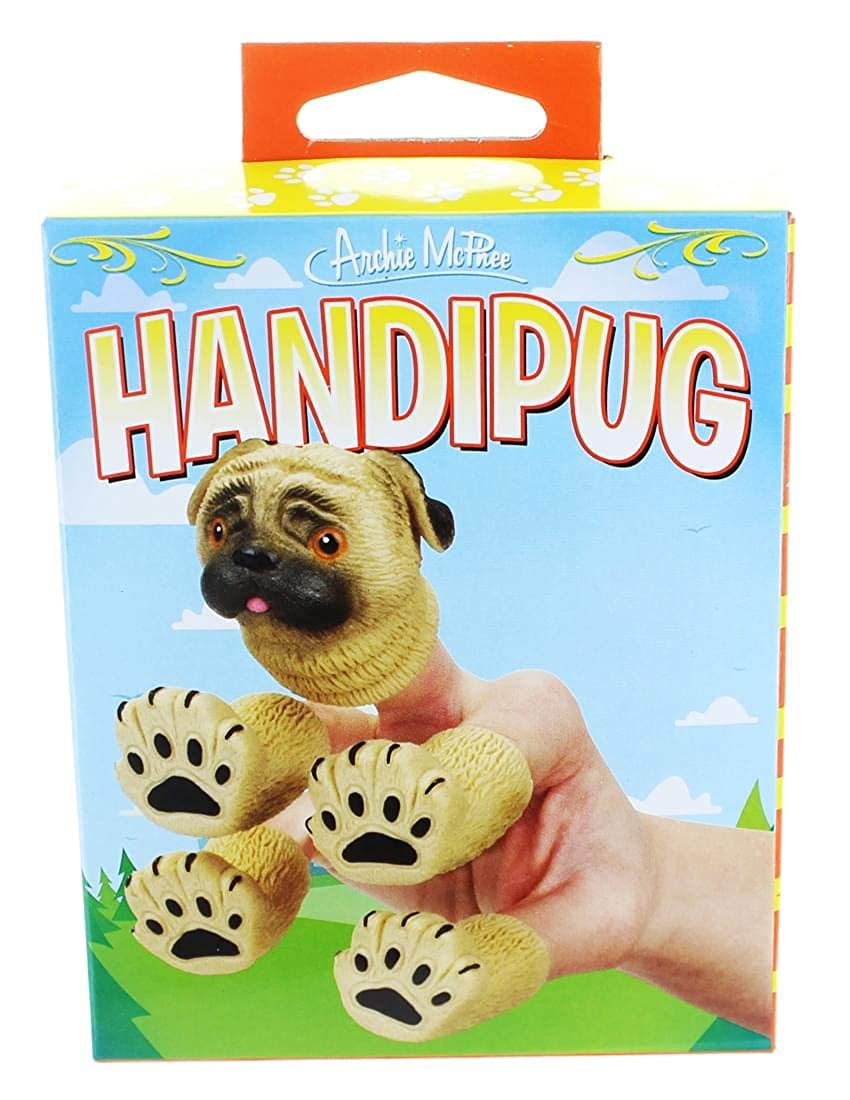 Archie McPhee Handipug Novelty Finger Puppet Accoutrements 12617