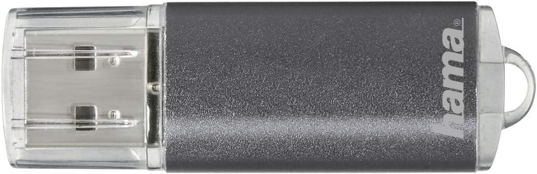 Hama USB Stick Memoria Stick laeta grigi 16gb 2.0 10mb cappuccio ALU backup dei dati