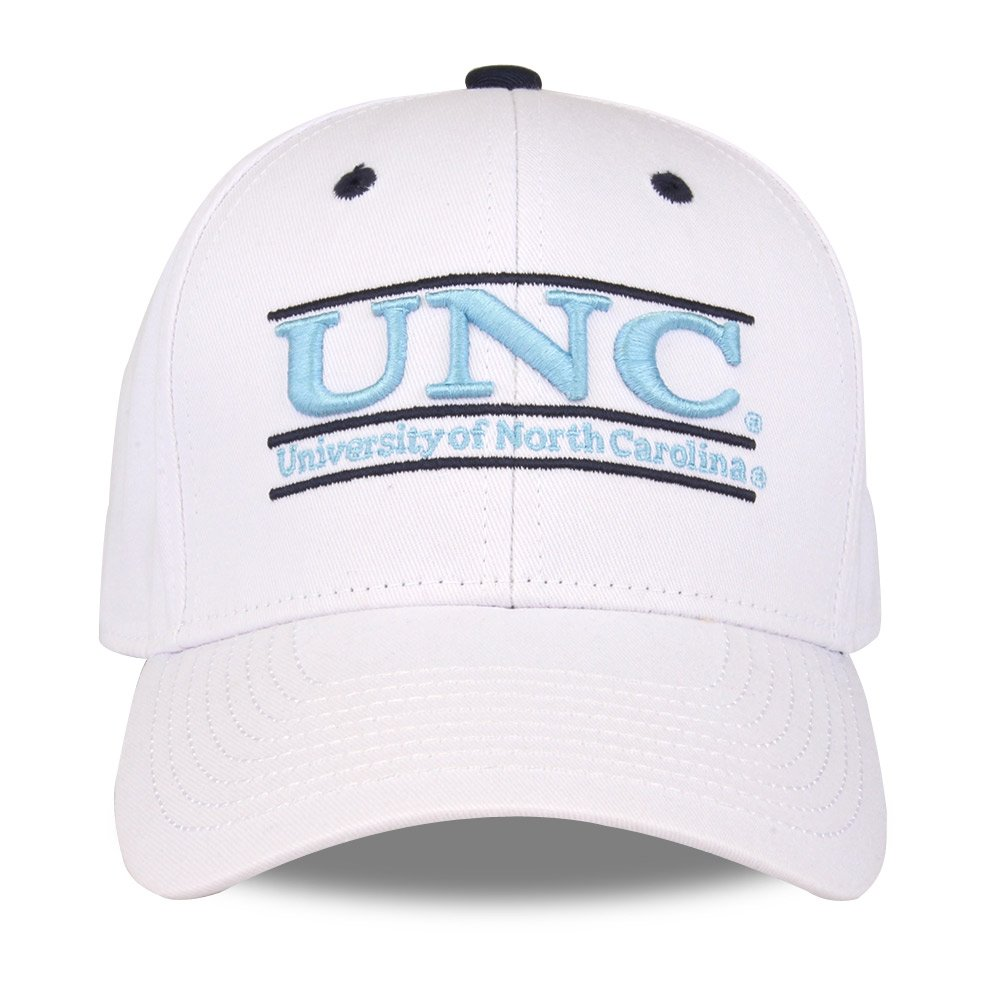 NCAA North Carolina Tar Heels Unisex NCAA The Game bar Design Hat Adjustable White