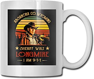 NaohBent Longmire For Sheriff Ceramic Coffee Mug Tea Cup For Office And Home