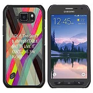 LECELL--Funda protectora / Cubierta / Piel For Samsung Galaxy S6Active Active G890A -- Vida demasiado corta texto activo --