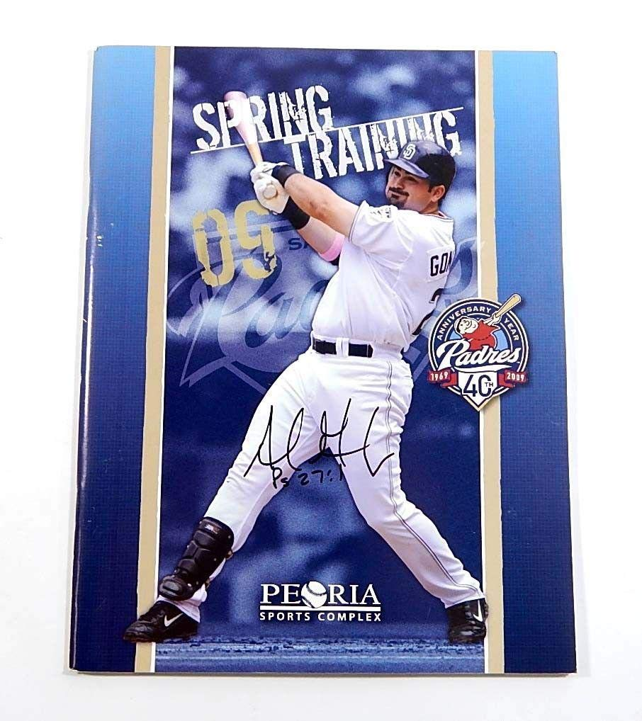 Adrian Gonzalez Signed Spring Training San Diego Padres 2009 Book Autographed MLB Magazines