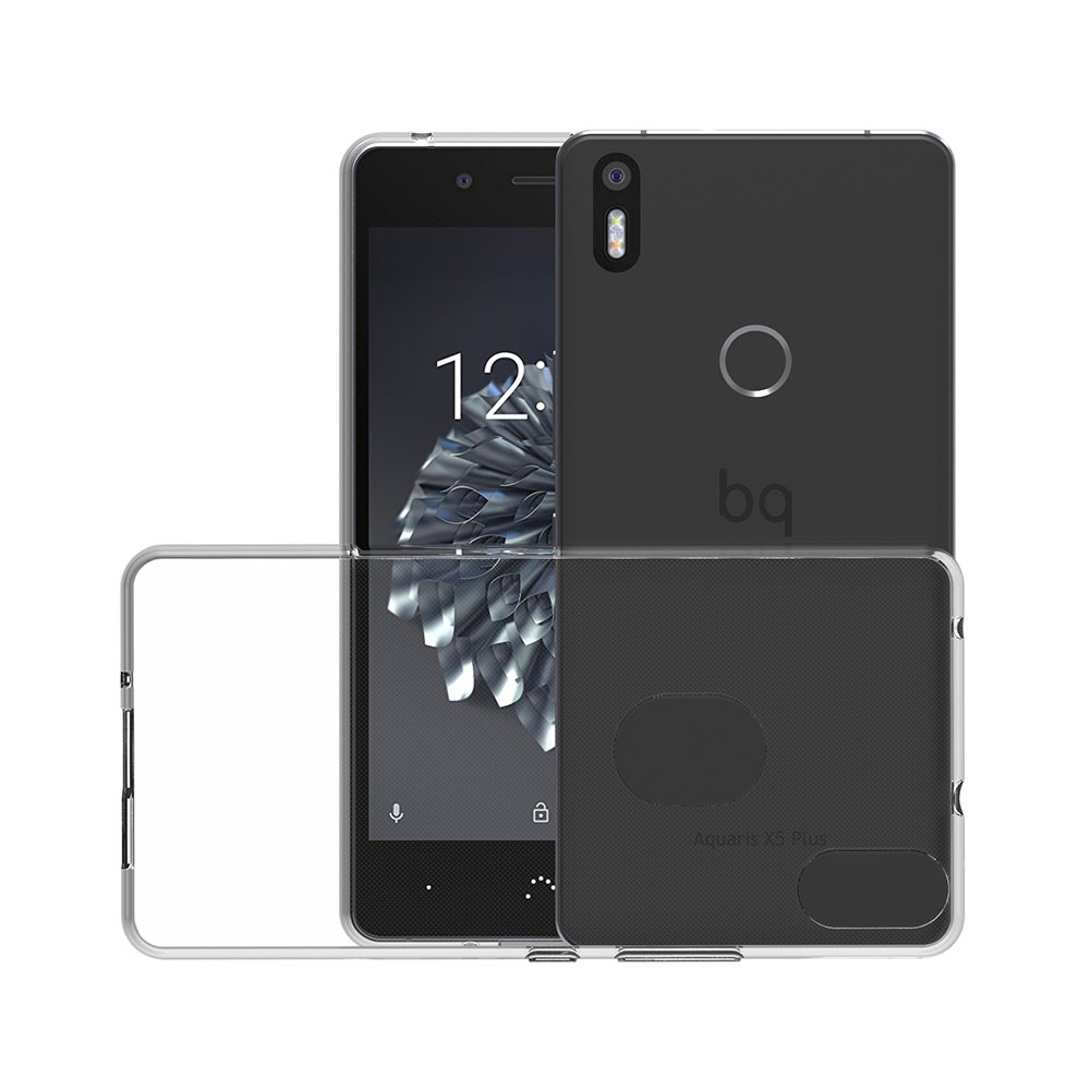 AICEK Funda BQ Aquaris X5 Plus, BQ Aquaris X5 Plus Funda Transparente Gel Silicona BQ Aquaris X5 Plus Premium Carcasa para BQ Aquaris X5 Plus 5.0