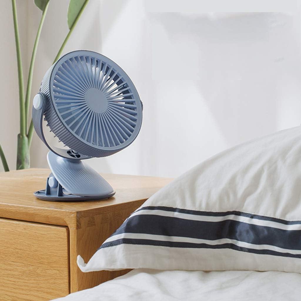 BENCONO Mini Fan USB Charging Fan Student Dormitory Outdoor Portable Clip Fan Color : Blue