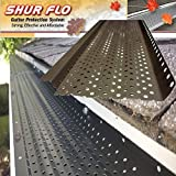 (200 feet) Shur Flo X Leaf Guard Gutter Protector for 6'' K-Style Gutters. Light Bronze Aluminum. 50 panels x 4.00' each.