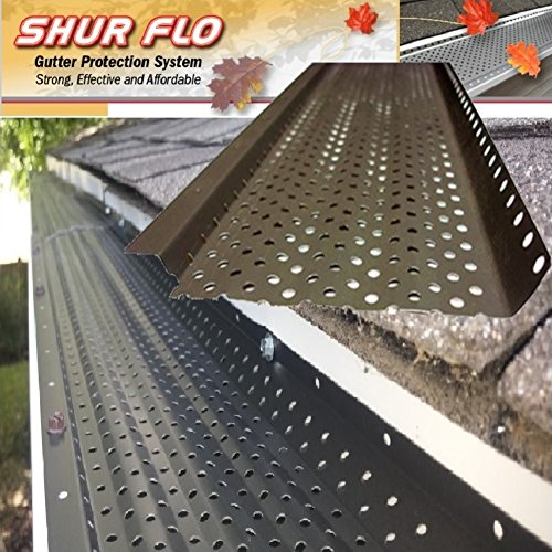 (200 feet) Shur Flo X Leaf Guard Gutter Protector for 5'' K-Style Gutters. Mill Finish Aluminum. 50 panels x 4.00' each. by SHURFLO