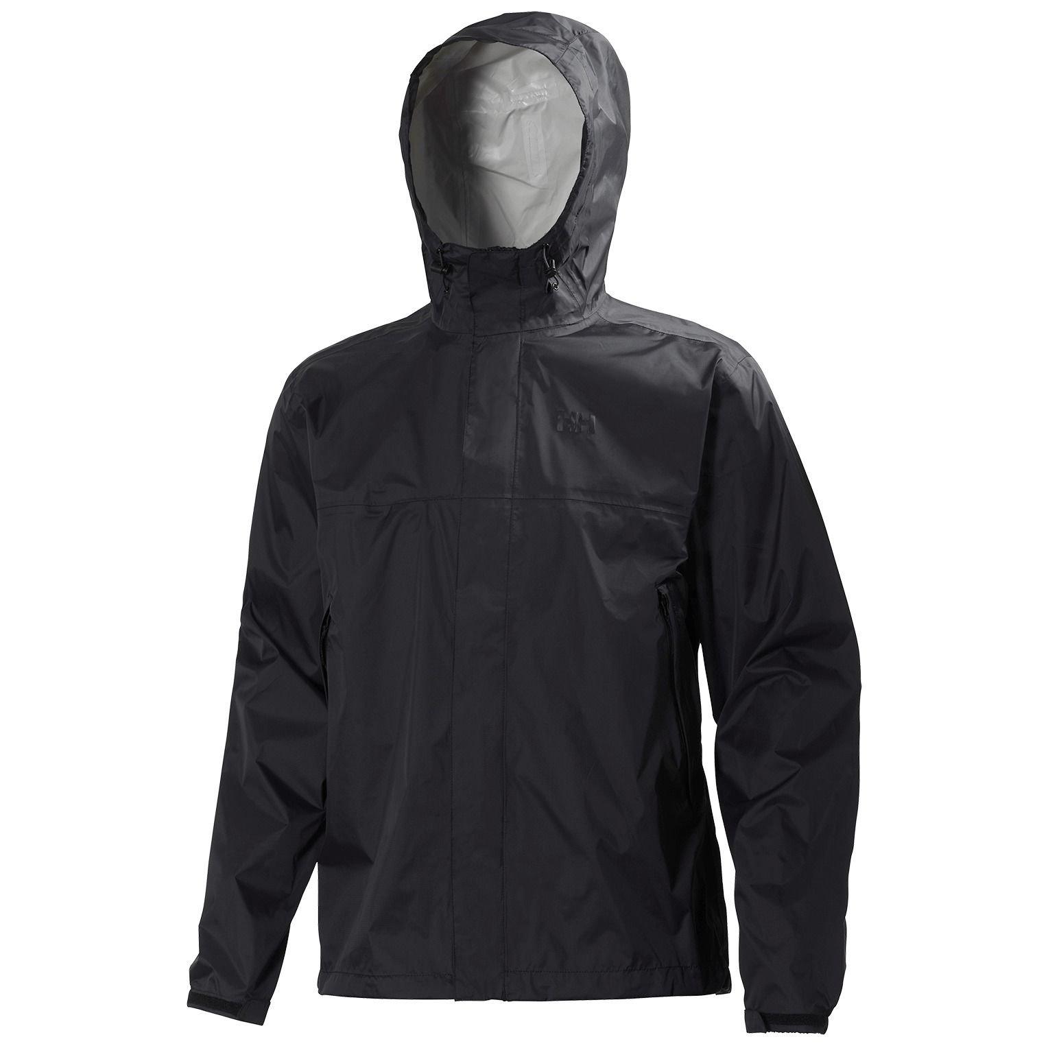 Helly Hansen Men's Loke Waterproof Windproof Breathable Adventure Rain Jacket, 990 Black, Medium