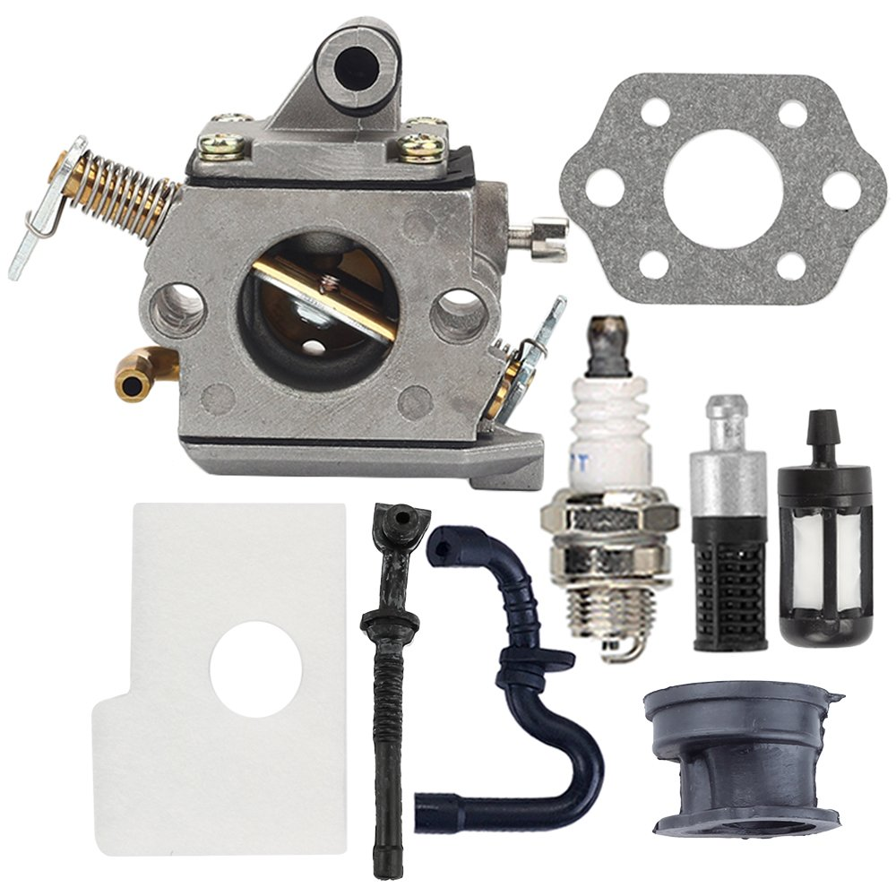 Butom MS170 Carburetor with Air Filter Tune Up Kit for Stihl 017 018 MS180 MS180C MS170C Chainsaw C1Q-S57A 1130 120 0603 by Butom