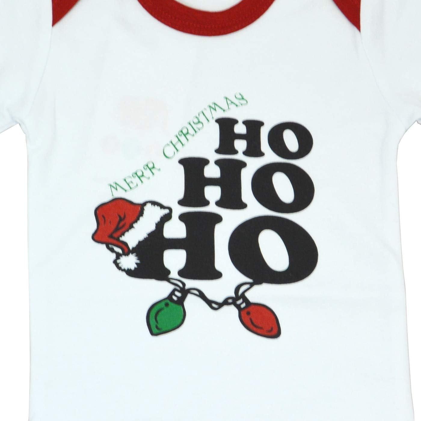 3-24 Monate OZYOL Baby Weihnachten Body 2 St/ück Strampler aus hochwertiger 100/% Baumwolle liebevoll Bedruckt mit Aufdruck Nikolaus Weihnachtsmann Santa HoHoHo