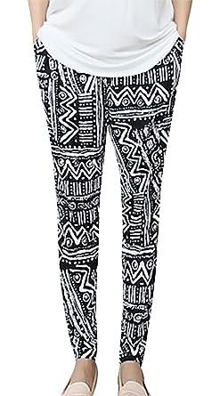 4f9f1a4eca130 MTRNTY Women's Maternity High Elastic Waist Aztec Harem Tribal Pants  Leggings, Small