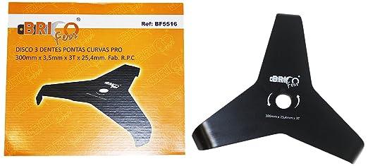 Bricoferr BF5516 Disco cuchilla de 3 puntas para ...