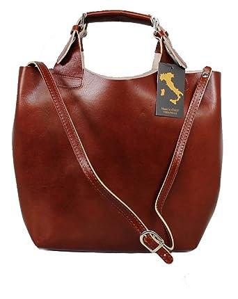 e034bacd26ef7 Leatherworld Luxus Beutel Ledertasche XXL   Shopper MARRONE 01257 ...