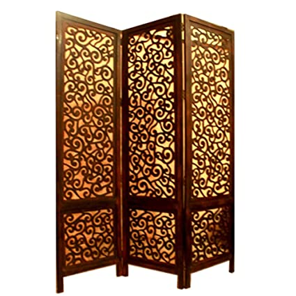 Outstanding Mib My Indian Brand Handcrafted 3 Panel 6 Ft Wooden Room Interior Design Ideas Tzicisoteloinfo