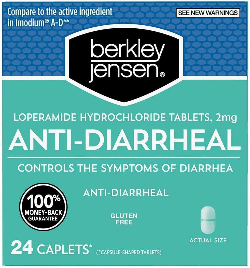 Berkley Jensen Anti-Diarrheal Medicine Loperamide Hydrochloride Tablets 2 mg - New Presentation: Health & Personal Care