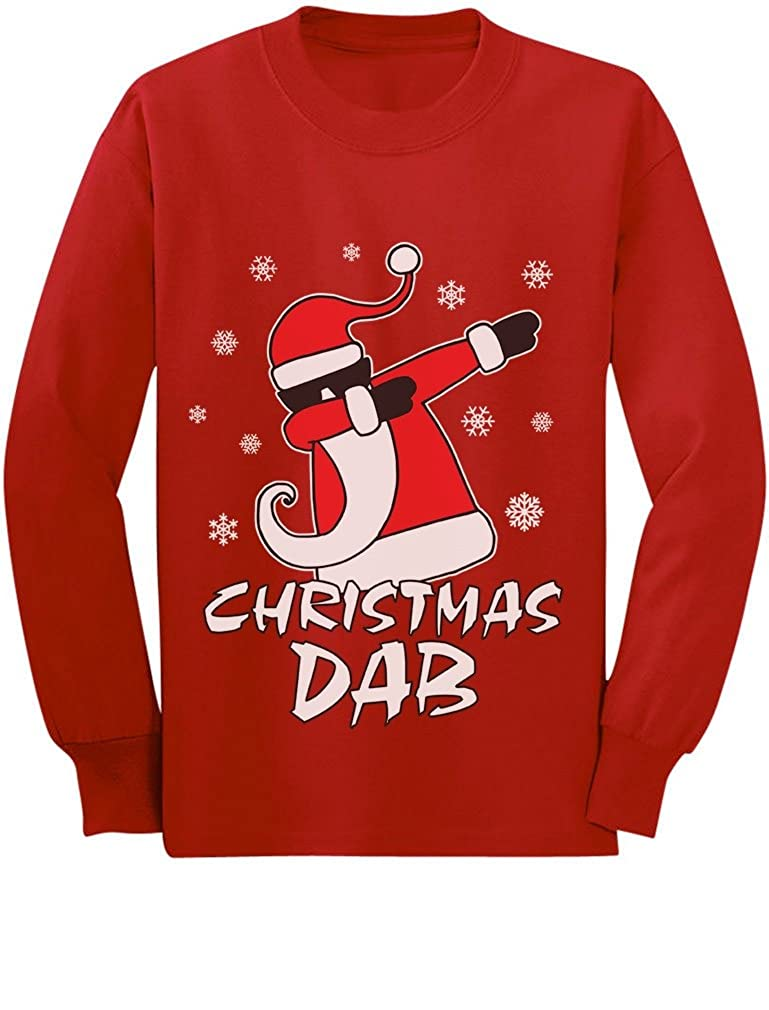 Dabbing Santa Christmas Dab Funny Ugly Xmas Toddler/Kids Long Sleeve T-Shirt GM0Pl3tgC5