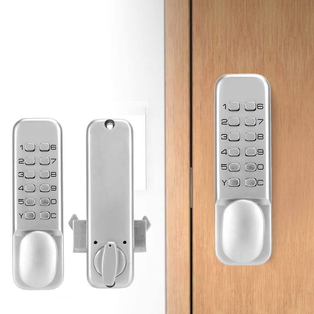 Digital Mechanical 1-11 Digit Combination Door Latch for Kitchen Balcony Push Down Keypad Sliding Door Password Lock