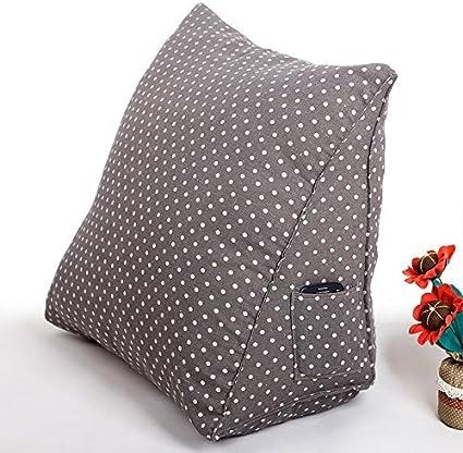 M, Grey Misslight Luxus Lendenkissen Kissen super bequeme Bett Unterst/ützung Stuhlkissen B/ücherkissen Fernsehkissen R/ückenkissen Sofa Bett Taille Kissen Multi Funktion Dreieck