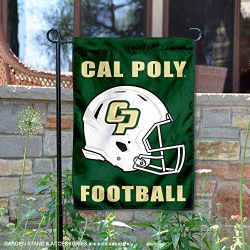 - College Flags and Banners Co. Cal Poly Mustangs Football Helmet Garden Yard Flag