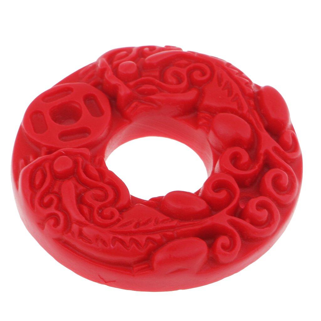 MagiDeal Pi Xiu Pendentif Boucle en Cinabre Richesse et Protection en Feng Shui pour Fabrication de Bijoux Bracelet Collier Dé cor