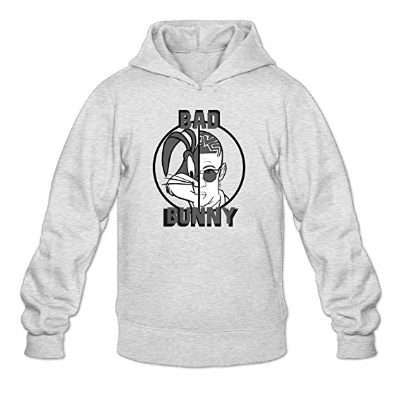 LS Bad Bunny Men s Pullover Logo Hooded Kapuzenpullover Unisex Custom  Sweater Ash  Amazon.es  Ropa y accesorios b247b90a3a4