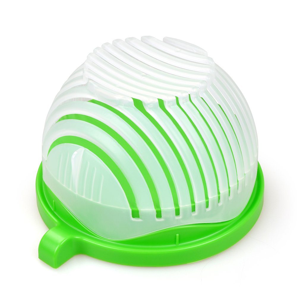 GooMart Updated 60 Second Salad Cutter Bowl- Chop Fresh Vegetables and Fruits in Seconds Z#FCJSLWLV00@DO1