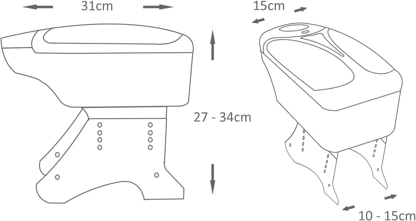 Universal 48011 - Reposabrazos de piel sintética para consola ...