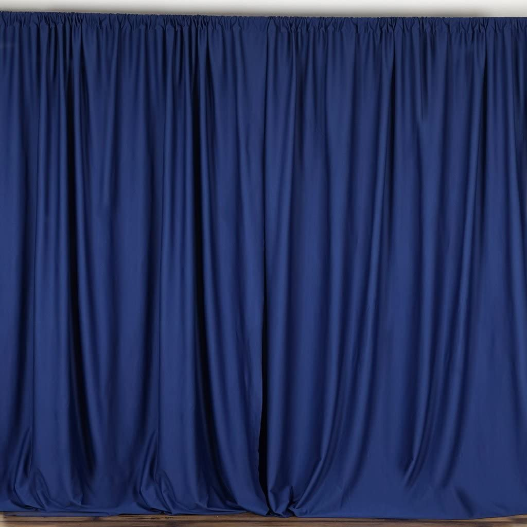"""lovemyfabric 100% Polyester Window Curtain/Stage Backdrop Curtain/Photography Backdrop 58"""" Inch X 108"""" Inch (1, Navy Blue)"""