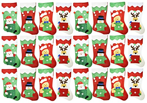 Set of 24 Christmas Stockings with Gift Card Envelopes! 18