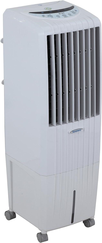 Symphony Diet Climatizador evaporativo, 170 W, 25 litros, 65 Decibelios, Plástico, 3 Velocidades, Blanco