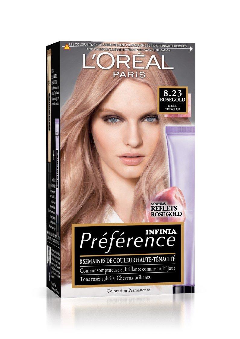 L'Oréal Paris Préférence Coloration Permanente Infinia 8, 23 Rosegold Blond Très Clair L' Oréal Paris A9520700