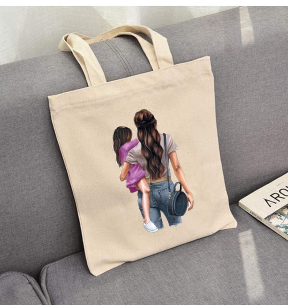 Zshhy Tygväskor kvinnor och flickor vardaglig designerhandväskor för super mamma hopfällbara väskor söta och söta B_35 x 40 cm c