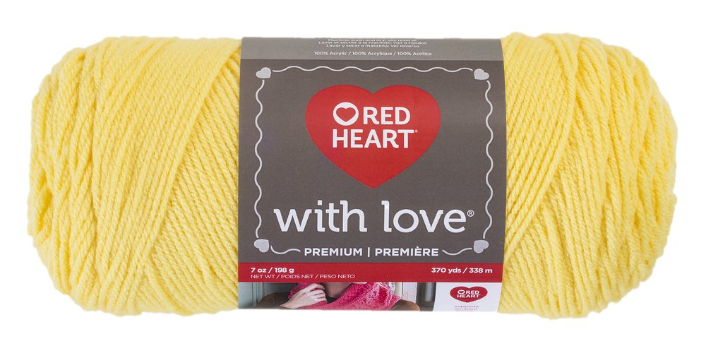 Red Heart With Love Yarn, Daffodil Coats Yarn E400.1201