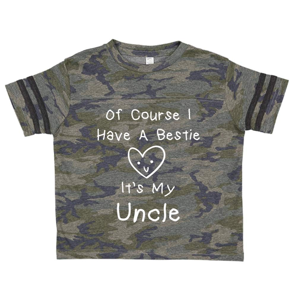 Toddler//Kids Sporty T-Shirt Mashed Clothing of Course I Have A Bestie Its My Uncle